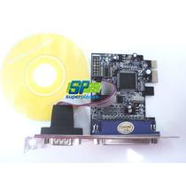 Placa Pci-e Pci Express 1 Serial Rs232 1 Cartão Lpt Paralela