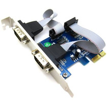 Placa Pci-e Express X1 Com 2 Portas Serial Db9 Rs232 Lowpro