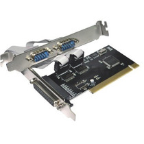 Placa Pci Serial 2 Portas + Paralela Com Cd Win10 Nova Sp!!