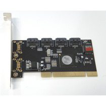 Placa Pci 4 Portas Sata Silicon 3124