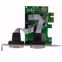 Kit 2 Placa Pci-e Express X1 Com 2 Portas Serial Db9 Rs232