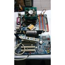 Placa Mãe Gigabyte Ga-8ig1000-g Off Processador Placa Video