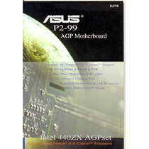 Manual Original Placa Mae Asus P2-99 Frete Gratis