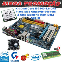Placa Mãe Gigabyte Ga-945 Lga 775 + Dual Core 2140 + 2 Giga