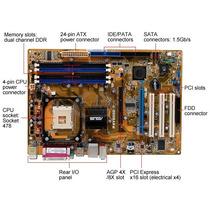 Asus P4v800d-x S478 Ddr1 Chipset Via Pci-e+agp8x 2-satas S/r
