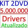 Kit 5.000.000 De Drivers Atualizados 2015 2 Dvds