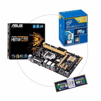 Kit Asus H81m-c/br Lga1150 + Intel I3 4170 + Mem 4 Gb Ddr3