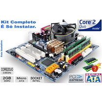 Kit Lga 775 Completo: Core 2 Duo + Placa + Memória + Cooler