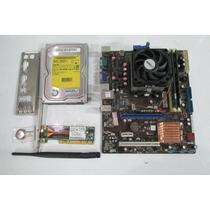 Kit Placa Mãe Asus M2n68-am Amd 8750 - Hd 320 - 4gb - Wi Fi