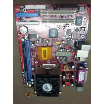 Placa Mae Pcchips M810d + Proc. Amd Atlhon + 256 Mb Memoria