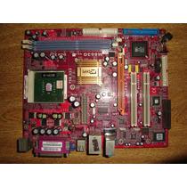 Placa Mãe Pc Chips M863g Com Processador Sempron 2600