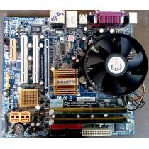 Kit Placa Mãe 775 Gigabyte Ga-945gcmx-s2+dual Core+1gb Ram!