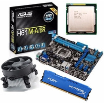 Kit Asus H61 M-a/br Hdmi + Core I5 3470 3.6 Ghz + 4gb Hyperx