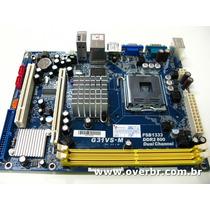 Placa Mae Asrock G31vs-m Chipset G31 Ddr2 4sata Pcie Fsb1333