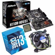 Kit Asrock H110m-hdv/d3 + Intel Core I3 6100 3.70ghz 3m 1151