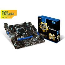 Placa H81m-e33 Para Processador Intel Core I3 I5 I7 Ddr3 Msi
