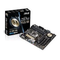 Placa-mãe Asus P/ Intel Lga 1150 Z97m-plus/br, C/ Crossfirex