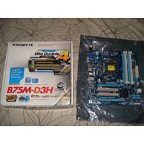Placa Mãe 1155 Gigabyte Ga-b75m-d3h P/ Intel Lga 1155