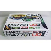 Placa Mãe Mb Gigabyte Ma770t-ud3 Som Rede Ddr3/sata.