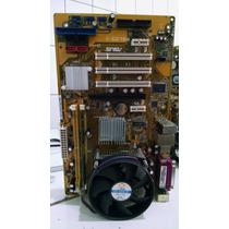 Kit Placa Mãe Asus P5vd2-x + Dual Core + 1gb Ddr2 ( Via )