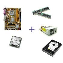 Kit Placa Mãe Ddr2+core 2 Duo+4gb Memória+fonte+hd 120gb!