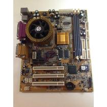 Placa Mae Antiga Com Processador