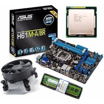 Kit Asus H61 M-a/br Hdmi + Core I5 3470 3.6 Ghz 1155 + 4gb