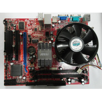Kit Placa Mãe 775 Ddr2 Msi G31tm-p21 + Dual Core+ Cooler!!!