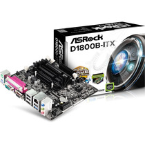 Placa Mãe Mini Itx Asrock D1800b-itx C/ Cpu Intel Dual Core