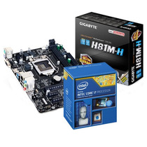 Kit Placa Mãe Gigabyte H81m 1150 + Intel Core I7 4790 3.6ghz