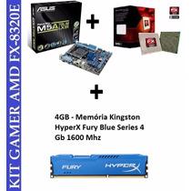 Kit Asus M5a78l-m Lx + Fx- 8320 4.0 Ghz 8 Core + Memória