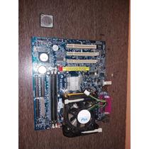 Placa Mãe Gigabyte 8vm533m-rz + Intel Celeron + Cooler