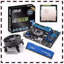 Kit Asus P8h61-lx + Core I5 3470 3.2ghz + 4gb Ddr3