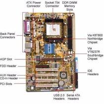 Placa Mãe 754 Com Sata Asus K8v-x-se Aceita Sempron/athlon64