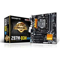 Placa Mãe Ga-z97m-d3h Gigabyte Ddr3 3100mhz Chipset Z97 4k