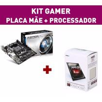 Kit Pc Gamer Amd A4 7300 4.0ghz + Apu Hd 8670 Placa Mãe Fm2+