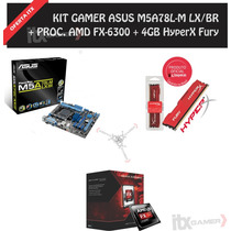 Kit Gamer Fx-6300, Asus M5a78l-m Lx/br, 4gb Hyperx Fury