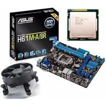 Kit Asus H61 M-a/br Hdmi Dvi Vga + Core I5 2400 3.1 Ghz 1155