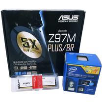 Kit Asus Z97m-plus/br+ Intel I5 4440 +memória Hyper Fury 8gb