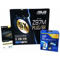 Kit Asus Z97m-plus/br + Intel I3 4170 Lga 1150+ 4gb Corsair