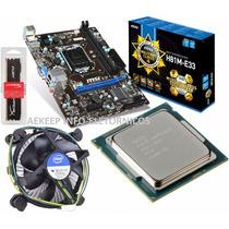 Kit Msi H81m-e33 + Intel Core I3-4170 4ª Geração + 4gb Ddr3