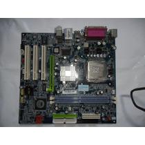 Placa Mãe Socket 775 Com Processador Intel Pentium 4