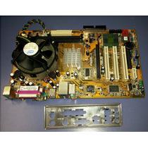 Kit Placa Mãe Asus P5gpl-x Socket 775,c/processador Pentium4