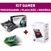 Kit Pc Gamer Amd A4 7300 4.0 Apu Memoria 4gb Placa Mãe Fm2+