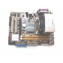 Kit Placa Mãe Asus P5gc-mx Ddr2 Sata Fsb 1333 Core2duo Pciex