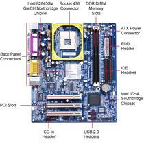 Kit Placa-mãe Gigabyte 81845gvm-rz + Intel P4 + Memória 1gb