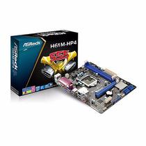 Motherboard 1155 Ddr3 Asrock H61m-hp4 S+v+r + Frete Grátis