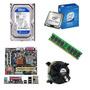 Kit Placa Mãe P5kpl-am+core2duo+cooler+memoria 1gb+hd 160gb