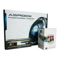 Kit Amd Asrock Fm2 A4 7300 3.8ghz Dual Core Memória 4gb Ddr3