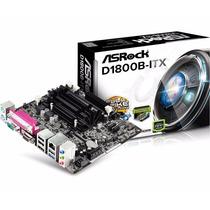 Placa Mãe Mini Itx Asrock D1800b-itx C/ Cpu Intel Dual Core